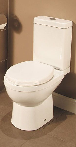 The Enna Toilet and Seat, a contemporary designed toilet where straight lines and gentle curves perfectly compliment each other. Just £89.95. Order now - http://www.betterbathrooms.com/toilets/enna-toilet-and-seat/
