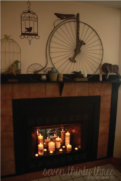 25 Best Ideas About Candles In Fireplace On Pinterest Candle Fireplace Fireplace With