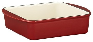 Mario Batali Red Baker modern cookware and bakeware. Also in other colors.