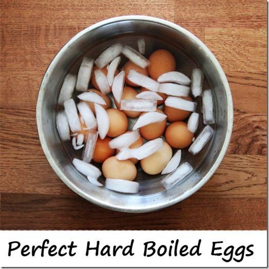 Perfect hard boiled eggs - no green, no cracks!