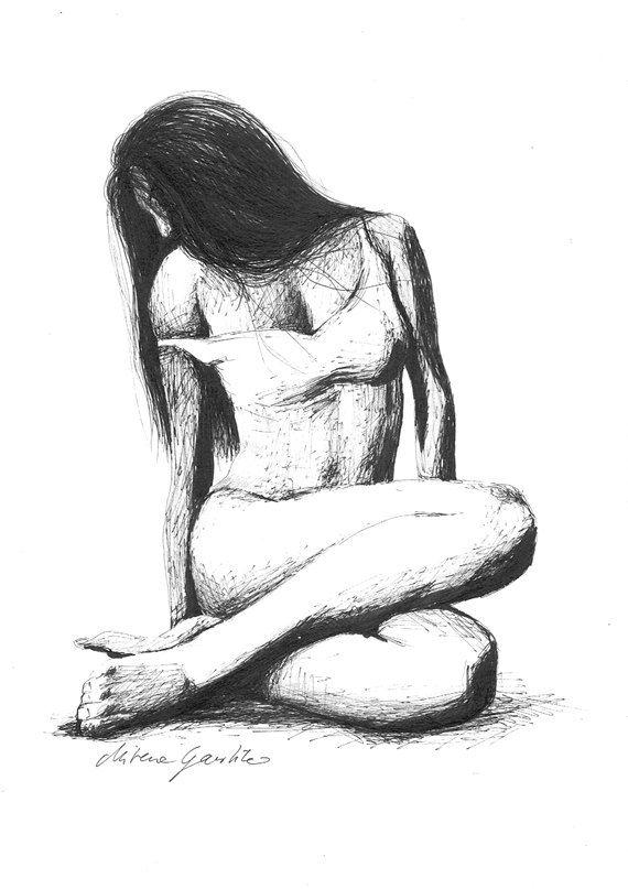 FEMININITY Art Print after an original drawing by HardLineStudio