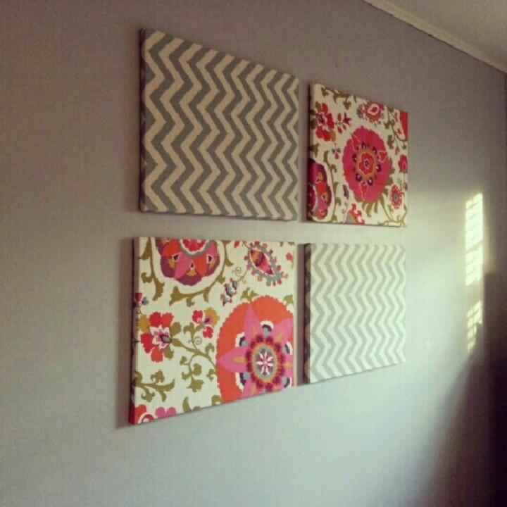 Diy Fabric On Canvas Wall Art : Best fabric covered canvas ideas on
