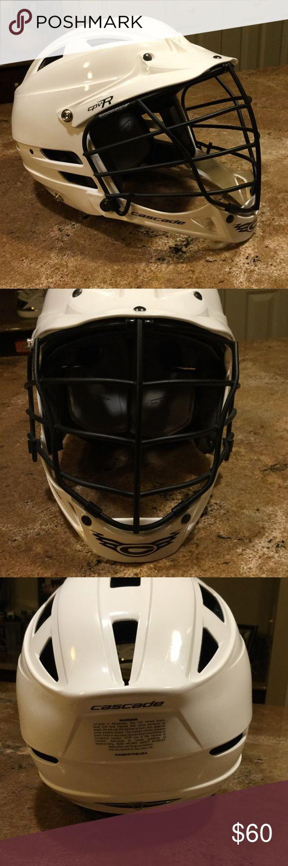 Cascade Lacrosse helmet S/M Worn 1 time only. Men's lacrosse helmet in perfect like new condition Cascade Accessories