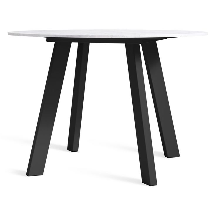 Right Round 42 8243 Marble Dining Table Black Rig Black Blu