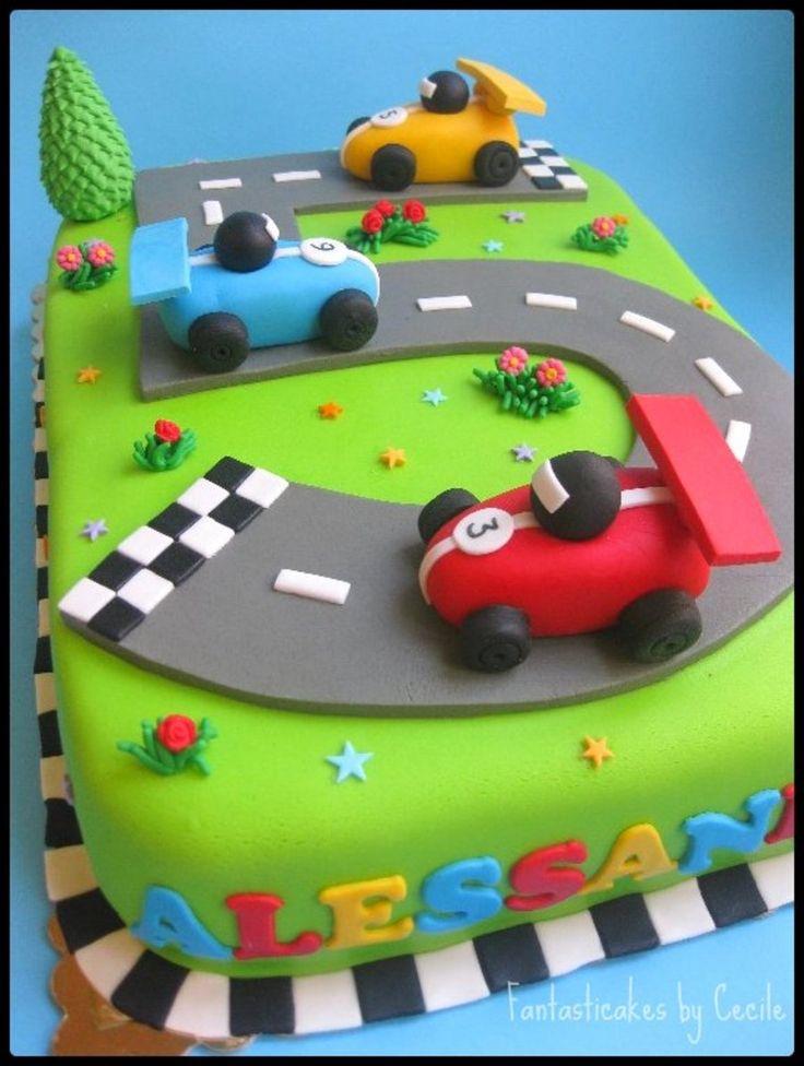 Racecars Circuit Cake