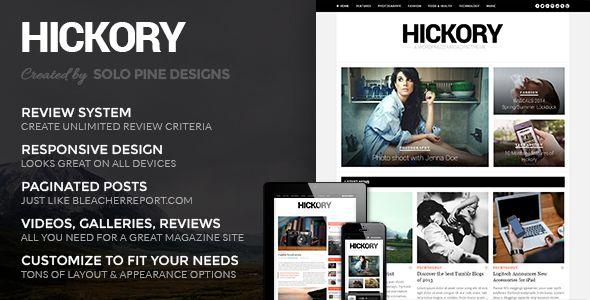 Hickory - A Beautiful WordPress Magazine Theme