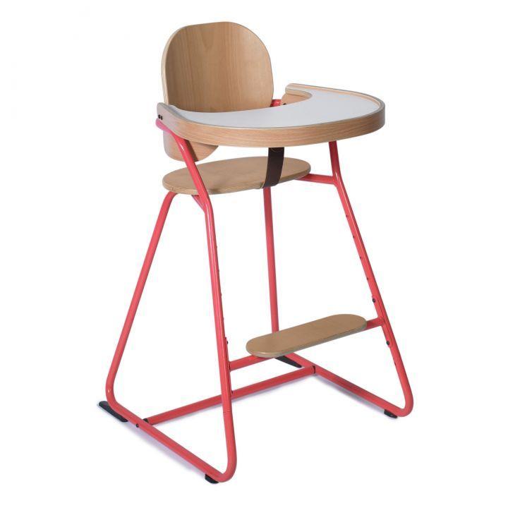 Chaise Haute Avec Tablette Tibu Structure Metal Et Bois Entre