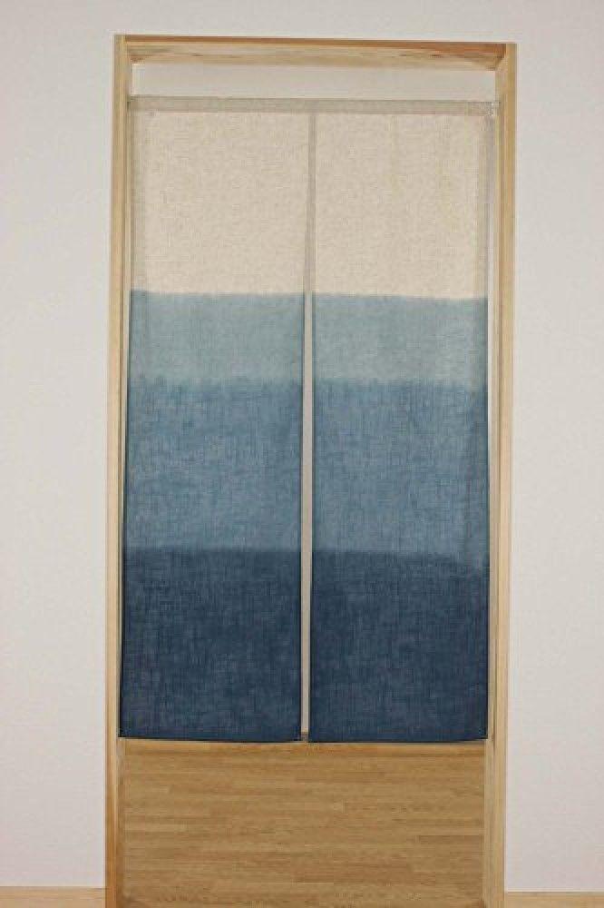 Noren Japanese Hanging Curtain Blue Gradation Color Japanese Wa