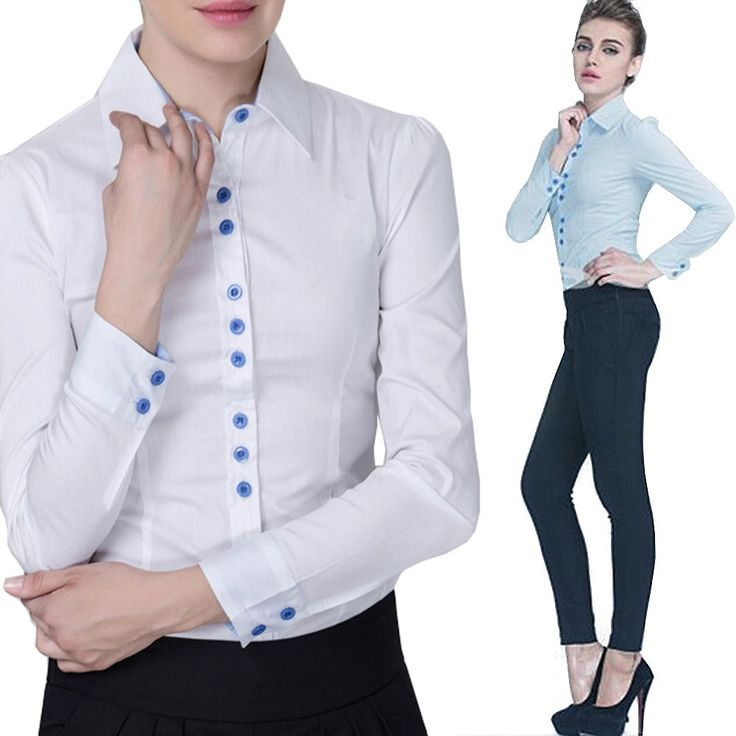 Clics Las S Work Office School Formal Ed Bodysuit Blouse Shirt