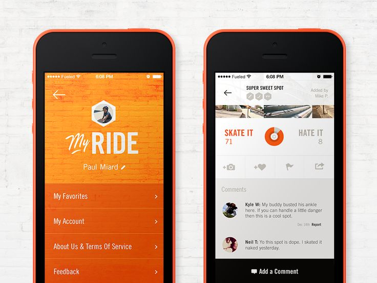 We Ride iPhone App #iphone #app #design #appdesign #inspiration #interface #UX #UI #GUI http://ramotion.com #ramotion #dribbble #behance #mobile #iOS7 #flatdesign