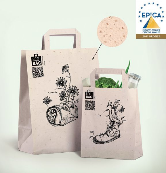 EcoBag Concept Depot WPF on Behance  We love doodles, and these doodles take a stand for sustainability!