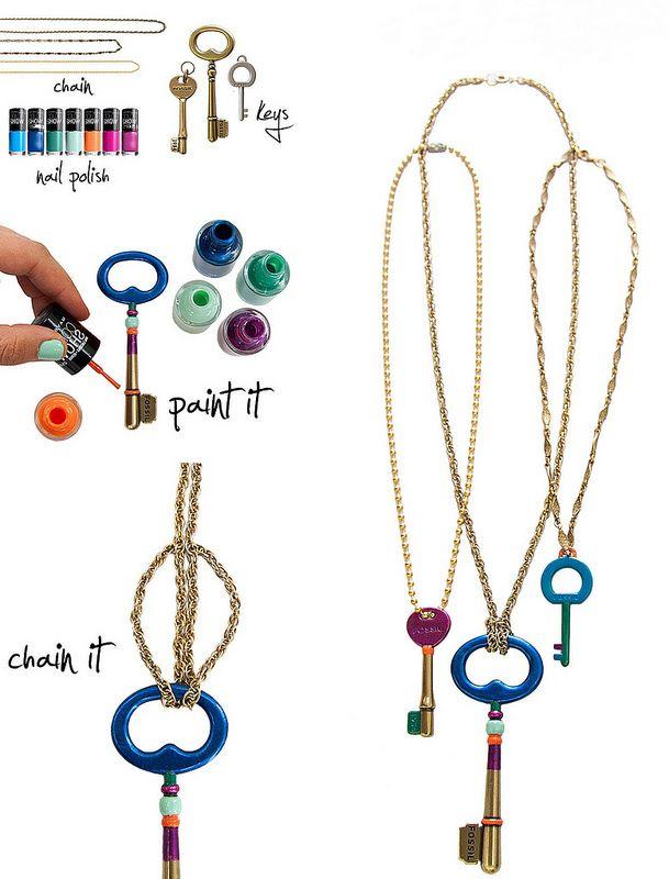 Color Block Keys #diy