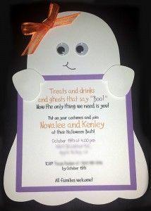 Ghost Svg Halloween Einladung Kinder Party Ghost Ausschnitt Cricut-Datei