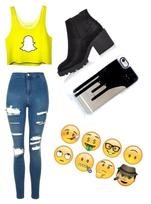 """""""Socail Media!!"""" by mnmbeauty on Polyvore featuring Topshop and River Island"""