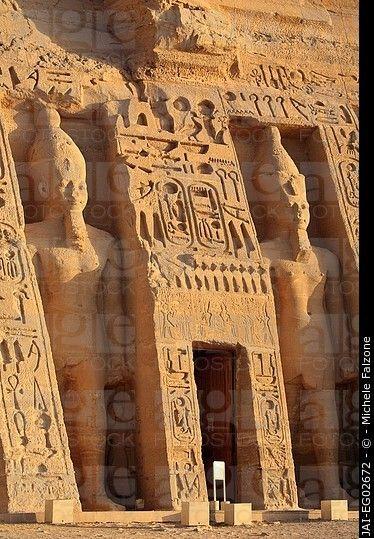 Egypt, Abu Simbel, Temple of Nefertari and Hathor