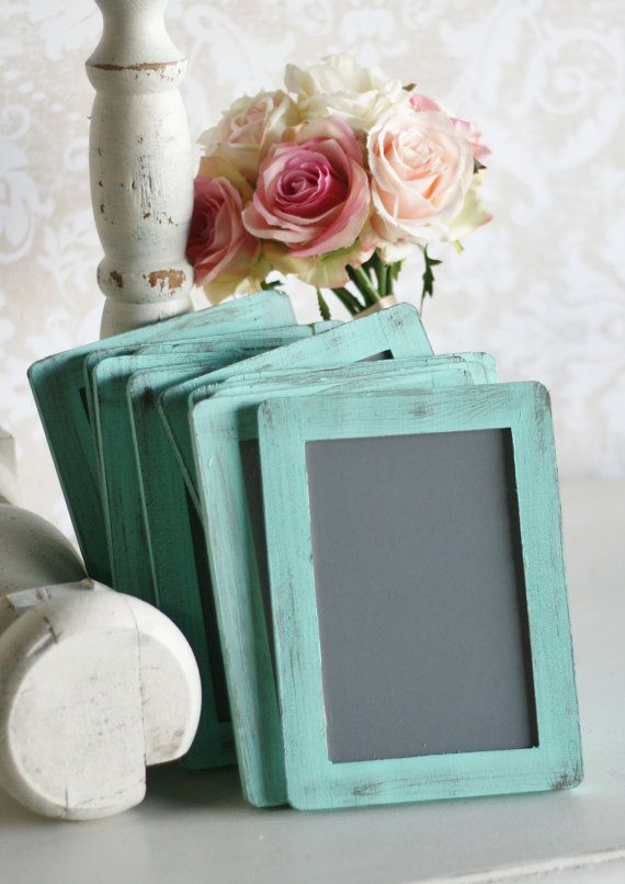 Rustic Chic Wedding Chalkboard Table Numbers Set by braggingbags