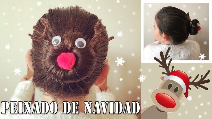 Peinado de navidad: Reno Rudolf