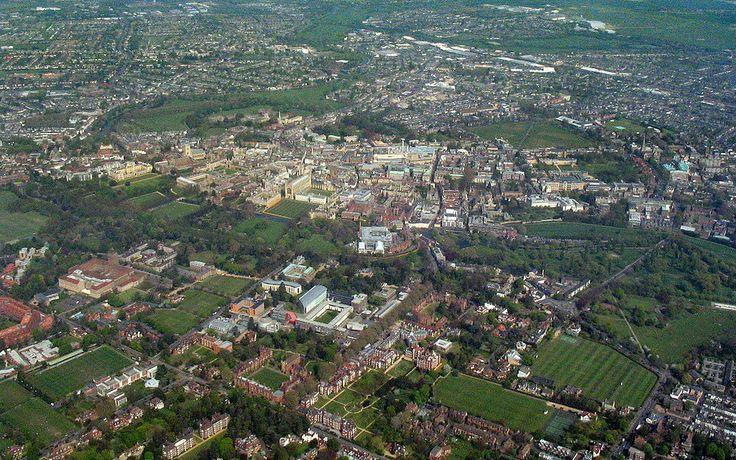 Aerial view of Cambridge city centre