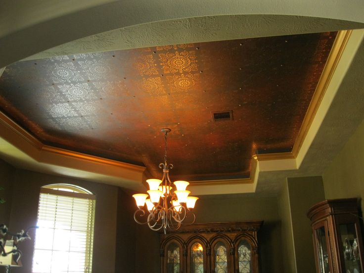 Faux finish metalic cieling     www.dwcustommurals.com, Dream Walls Murals and Faux Finish, By Artist Alfredo Montenegro