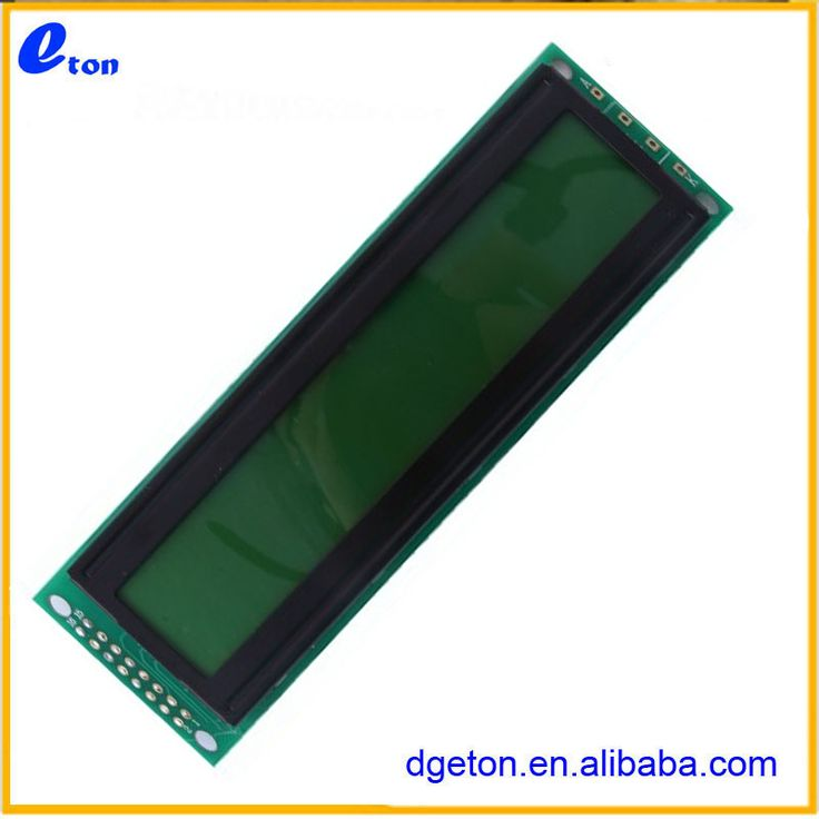 40X2 character lcd display green background black characters withBacklight #8_Bit, #background