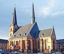 Zwickau Kirche, downtown Zwickau, Germany