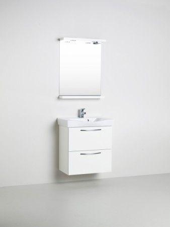 Vedum Basic Tvättställspaket 650 Luckor Vit - Badrumsgruppen.se