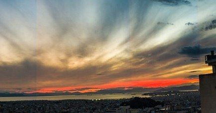 Amazing sunset as seen from my rooftop in Athens Greece . . . . . . . . .  #pttlgr #photocontestgr #instalifo #amazing #travel_greece #instatravel #instago #love  #Vironas #Greece #panoramic #sunset #nature  #sun #sky #landscape #panorama #water #light #travel #traveling #visiting #instatravel #instago #cloud #evening #outdoors #sea #dusk #weather