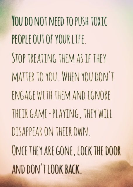Stop engaging with toxic people