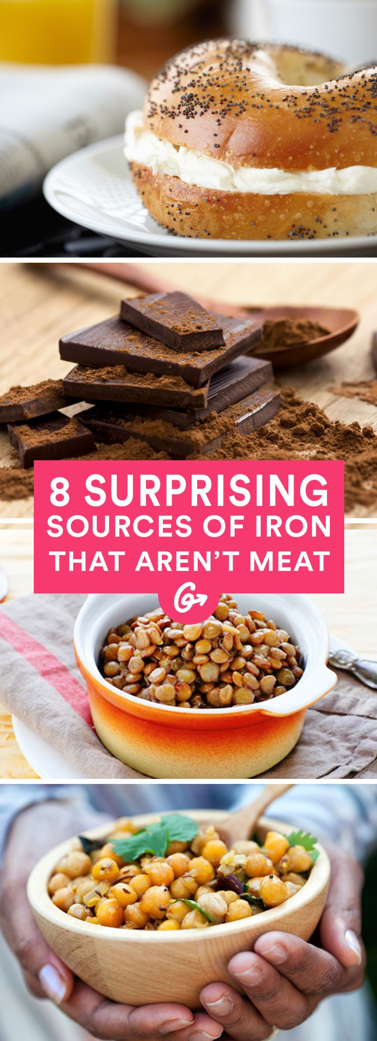 You don't need to chow down on steak to get your daily dose of this essential mineral. #iron #vegetarian http://greatist.com/eat/surprising-foods-high-in-iron