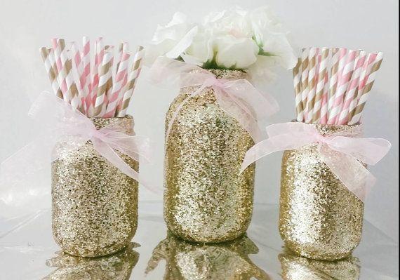 Best gold mason jars ideas on pinterest glitter
