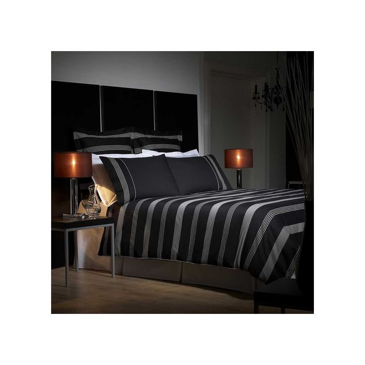 Contemporary designer bed linen from J by Jasper Conran. This 'Park Avenue' collection of bedding features a black and silver grey striped design throughout and comes in a selection of matching co-ordinates for  a sleek finish to your bedroom. Each item from the 'Park Avenue' range uses 100% cotton with a focus on impeccable design as well as comfort.