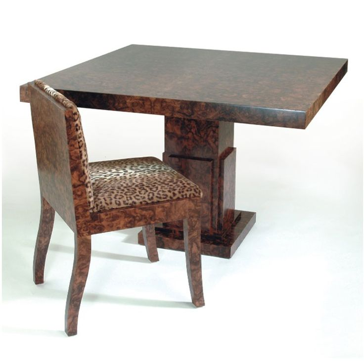 Burr Walnut Art Deco Dining Table by Anton Gerner - bespoke contemporary furniture melbourne