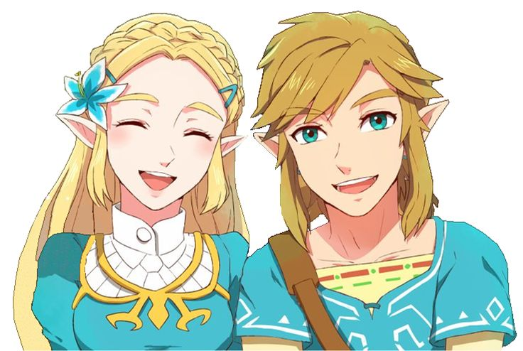 Zelda and Link from Breath of the Wild. Oh my gosh! Zelda's wearing a Silent Princess!! <3