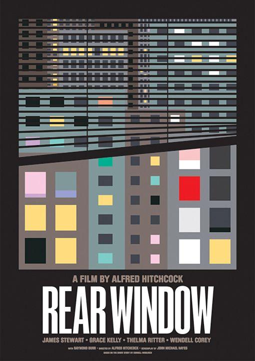 Rear Window: Classic Movie, Minimalist Movie Posters, Alfred Hitchcock, Rear Window, Film Posters, James Stewart, James Joyce, Rearwindow, Minimal Movie Posters