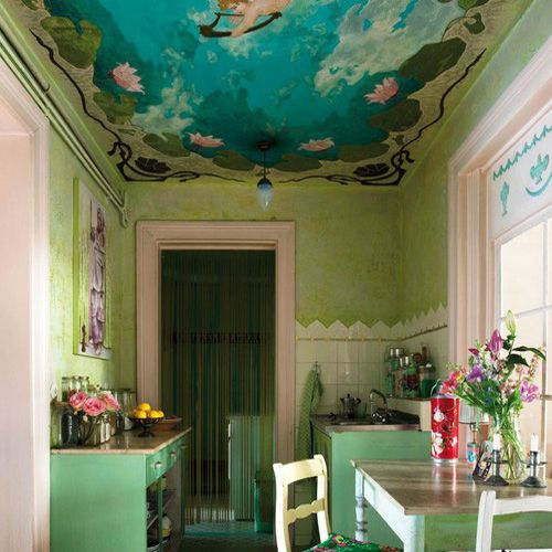 17 best images about unique and colorful ceilings on for Cool painted ceilings