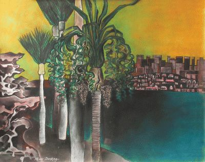 Palms Watching by Shay Docking Craignair collection