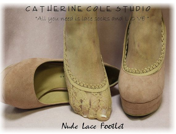 Lace footlets wedding bridal lace slippers by CatherineColeStudio, $6.00