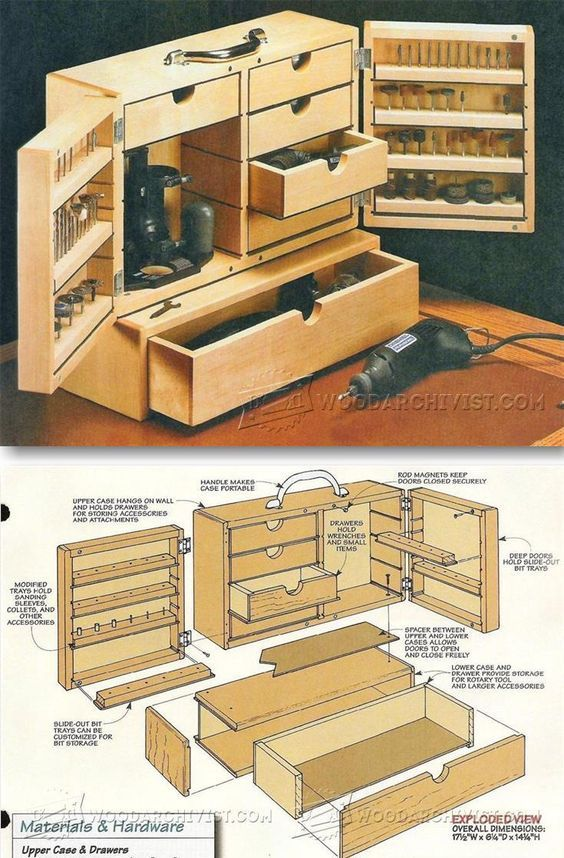 Dremel Storage Case Plans - Workshop Solutions Projects, Tips and Tricks   WoodArchivist.com