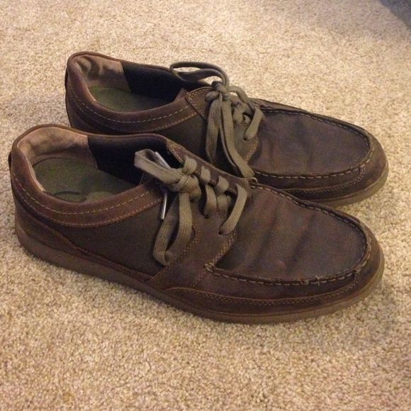 Men's Clarks Shoes Brown size 12 men's Clarks. Decent condition; visible wear and tear. Clarks Shoes