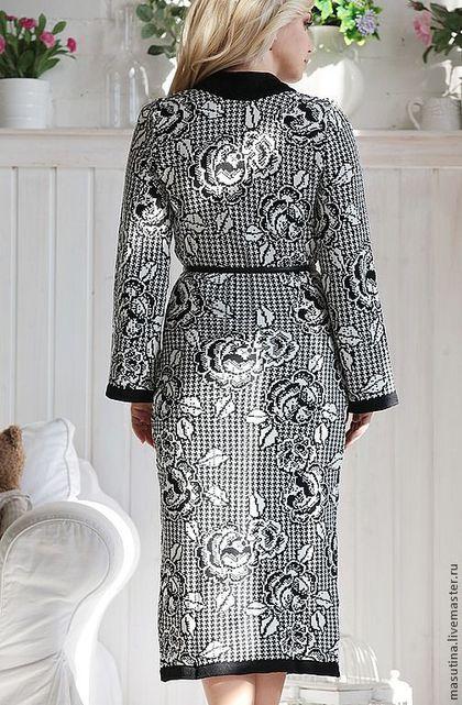 """Верхняя одежда ручной работы. Пальто""""Lady"""". Масютина Олеся. Ярмарка Мастеров. Пальто в цветочек"""