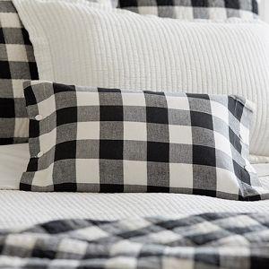 Taylor Linens Parker Boudoir Pillow #farmhousestyle #farmhouseliving #farmhousefurniture #farmhousehousedecor #farmhouse #lavenderfields