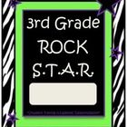 3rd Grade Rock Star Binder-Folder Covers with Zebra Print.. Free!