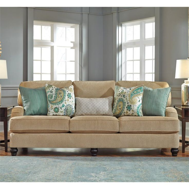 Lowest price online on all Ashley Lochian Chenille Sofa in Bisque - 5810038