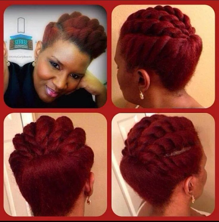 Natural hair up-do