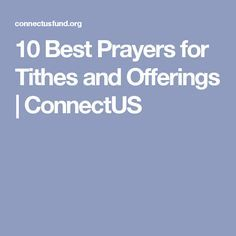 10 Best Prayers for Tithes and Offerings | ConnectUS