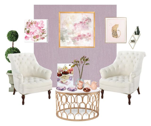 """""""Tea room"""" by salapopo on Polyvore featuring interior, interiors, interior design, home, home decor, interior decorating, Beacon, Oliver Gal Artist Co., Bungalow 5 and Frontgate"""