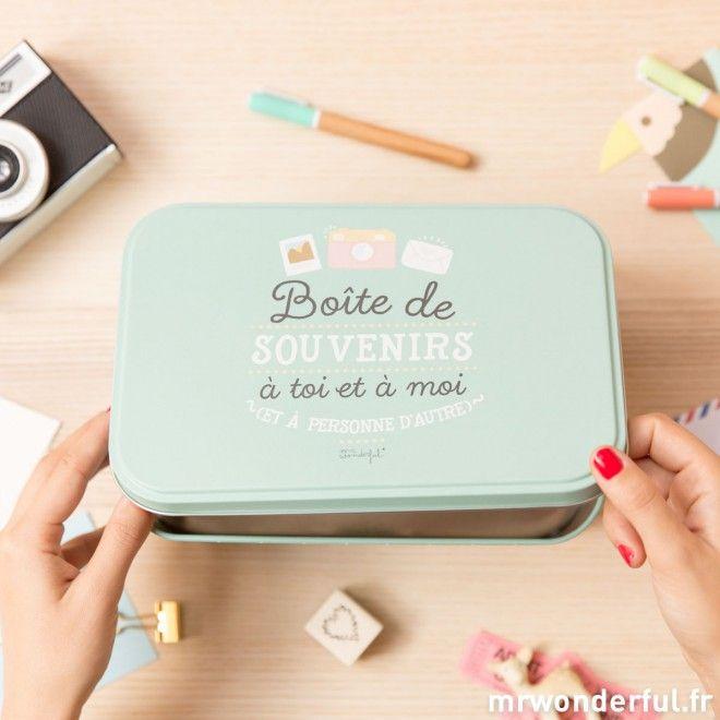 Boîte en métal de souvenirs à toi et à moi (FR)