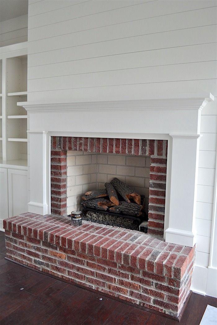 Best 25 brick fireplace wall ideas on pinterest brick for Diy rock wall fireplace