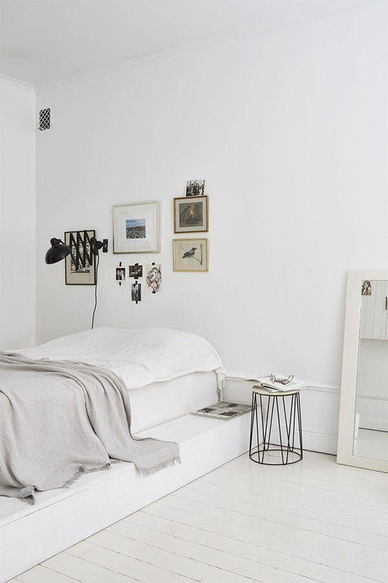25 beste idee n over witte slaapkamers op pinterest witte slaapkamer witte slaapkamer - Witte hoofdeinde ...