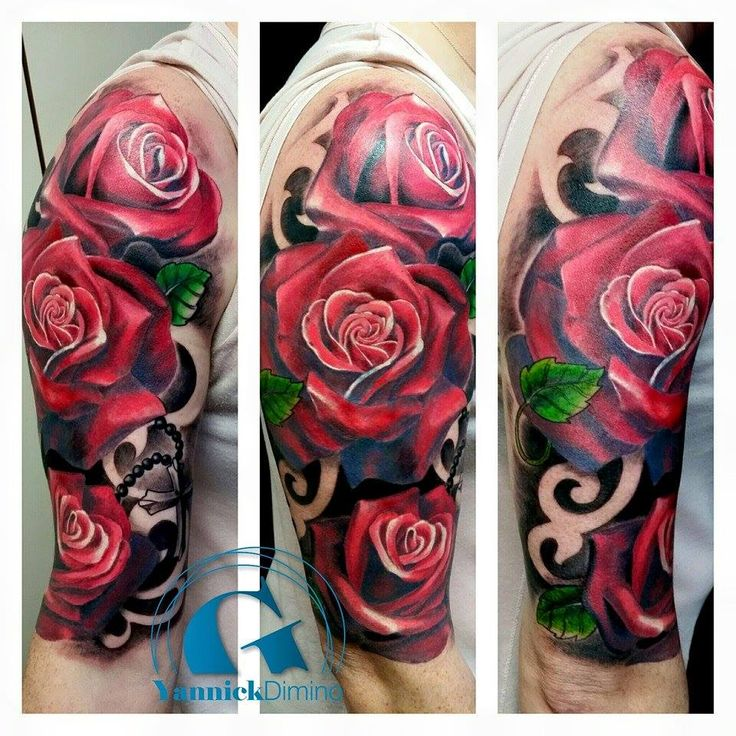 Tatouage Bouquet De Rose